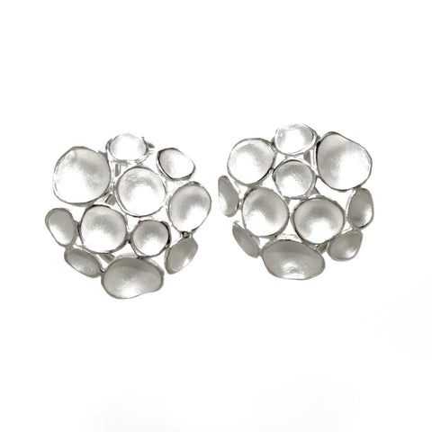 Silver Multi Pod Clip On Earrings by Sarah Richardson