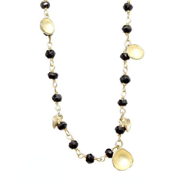 Six Pod Gold Drop Necklace by Sarah Richardson