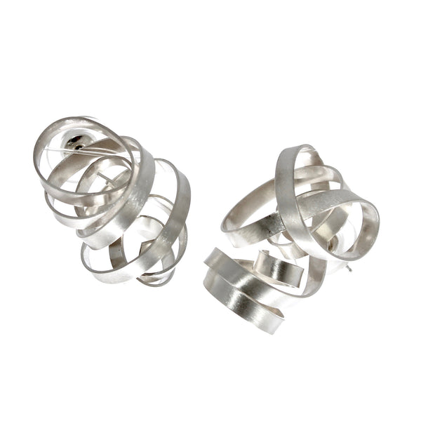 Sculptural Ribbon Earrings by Rina Young