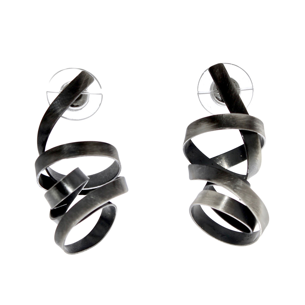 Random Wrapped Ribbon Earrings by Rina Young