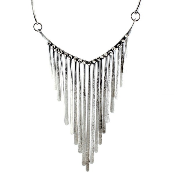 Fringe Necklace by Monique Rancourt - Fire Opal - 1