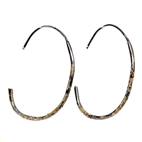 Fused Recycled Gold Hoop Earrings by Kate Maller