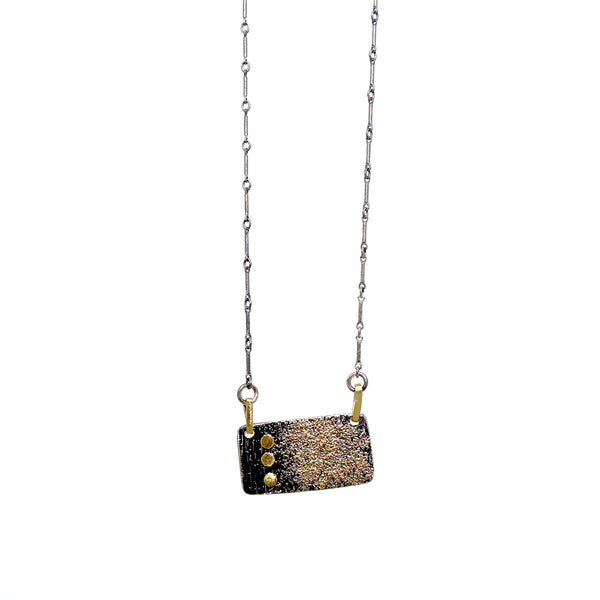 Recycled 18k Gold Tab Necklace by Kate Maller