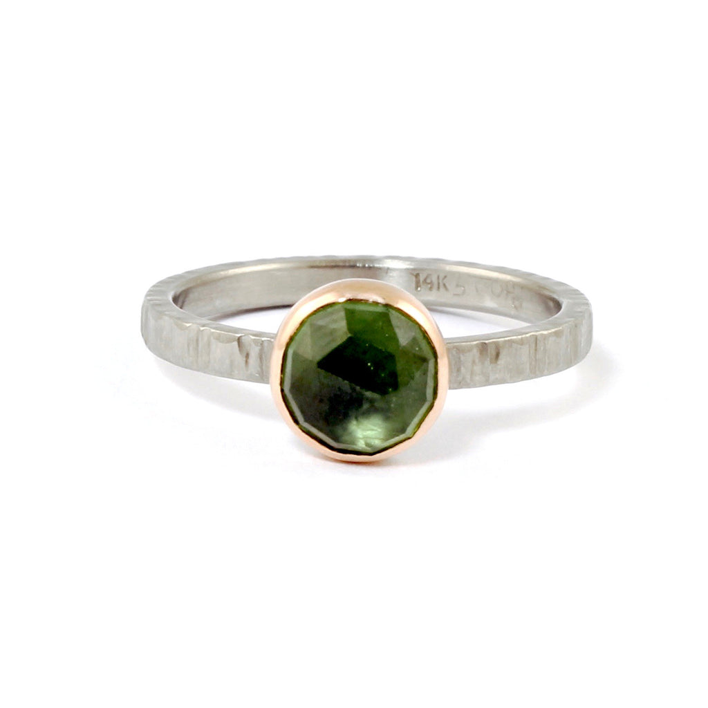 Resort Green Sapphire Ring by EC Design - Fire Opal - 1