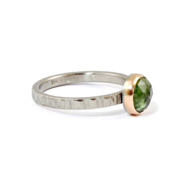 Resort Green Sapphire Ring by EC Design - Fire Opal - 2