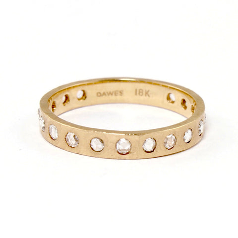 Hewn Rose Gold Diamond Band by Dawes Design - Fire Opal - 1