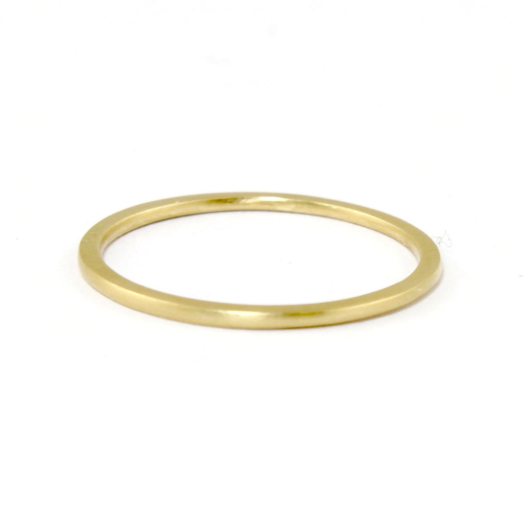 Maya Plain Stacking Ring by Carla Caruso - Fire Opal - 1