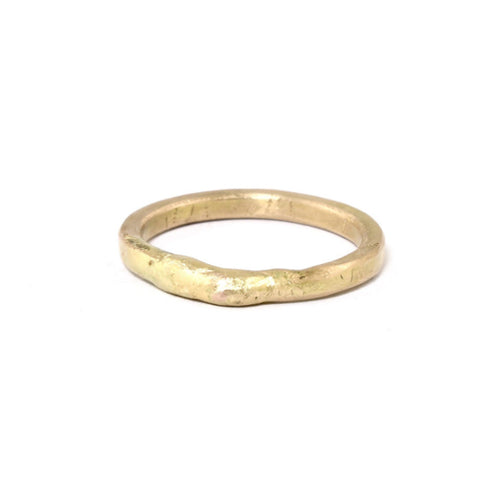 Gold Seamed Band by Variance - Fire Opal - 1