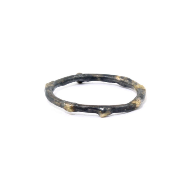 Single Textured Skinny Band by Variance - Fire Opal - 2
