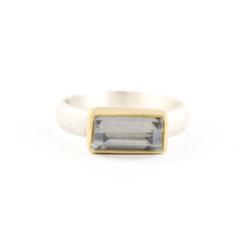 Pyrite/Quartz Ring by Heather Guidero