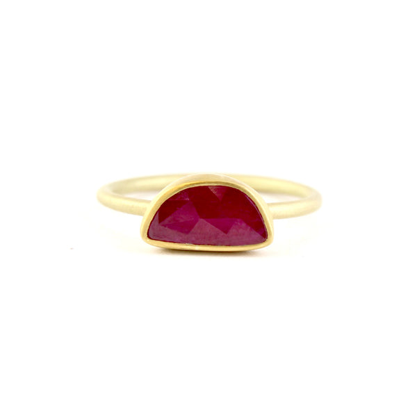 Rose Cut Ruby Ring by Heather Guidero