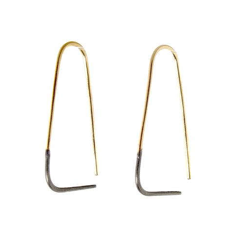 Two-Toned Triangle Pull-Through Earrings by Colleen Mauer Designs