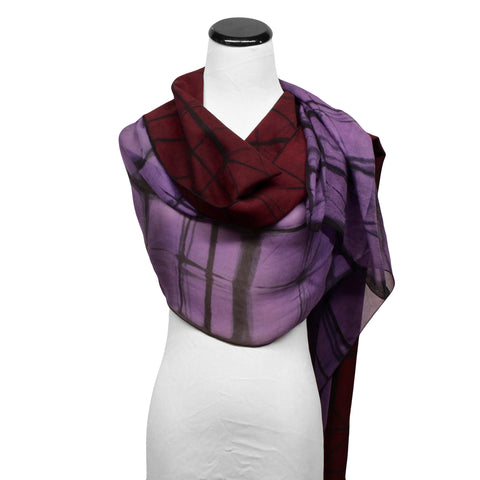 Two Piece Scarf by Betsy Giberson - Fire Opal - 1