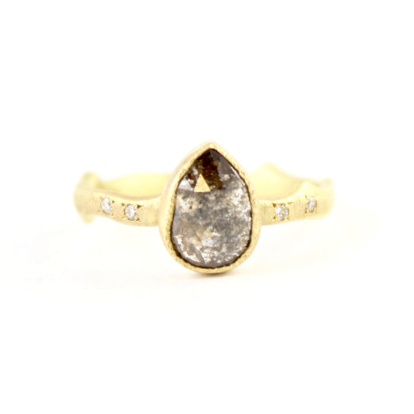 Black Diamond Thorn Ring by Yasuko Azuma