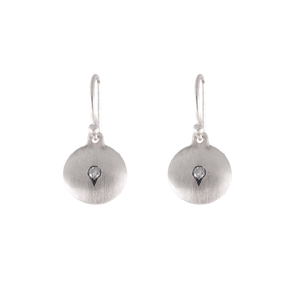 NEW! Indu Silver Grey Diamond Earrings by Dan-Yell