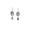 NEW! Rose Cut Labradorite and Blue Topaz Earrings by Ananda Khalsa