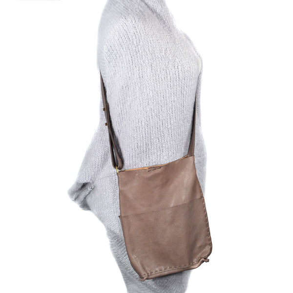 NEW! Molly Small Crossbody Bag in Warm Grey or Pink Grey by Stitch & Tickle