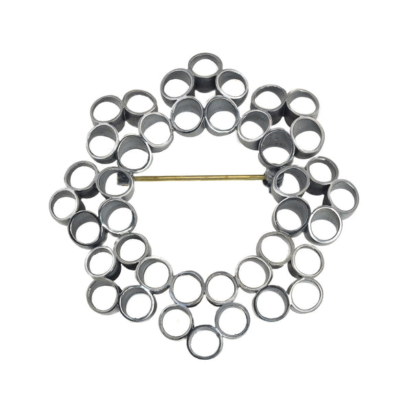 NEW! Nava Radial Brooch in Oxidized Sterling Silver by Thea Izzi