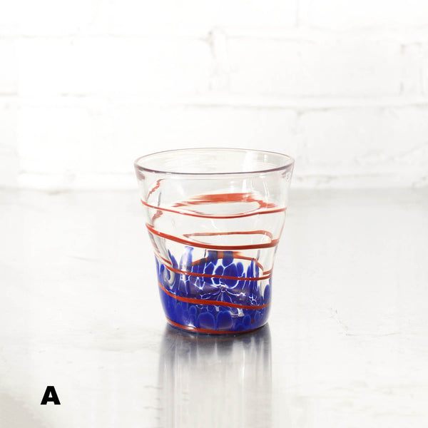 NEW! Wavie Ware Double Old Fashioned Glass in Multiple Colors by Peàn Doubulyu Glass