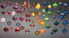Glass Ornaments by Cicada Glassworks - Fire Opal - 1