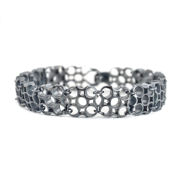 "NEW! Chex Bracelet ""5"" in Oxidized Sterling Silver by Thea Izzi"