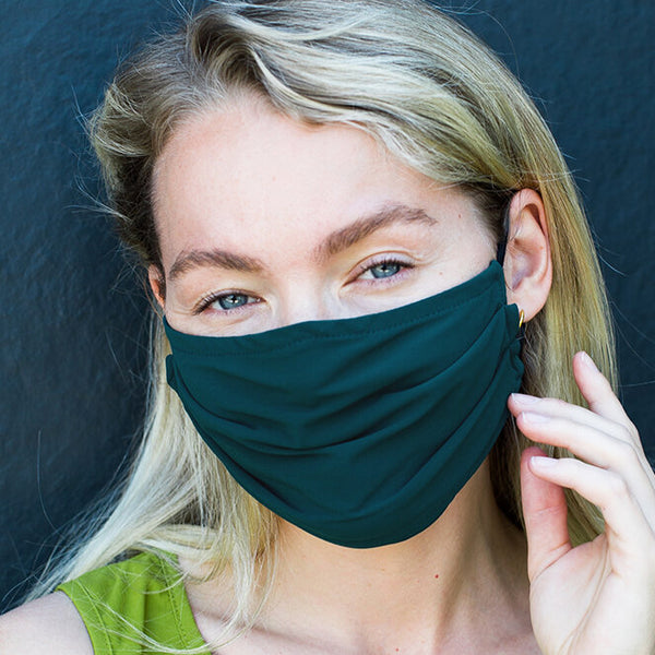 NEW! Porto Mask in Jade Jet Jersey