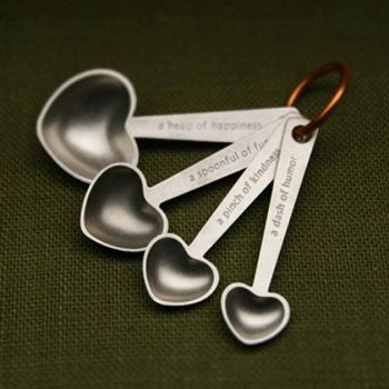 Quotes Measuring Spoons by Beehive - Fire Opal