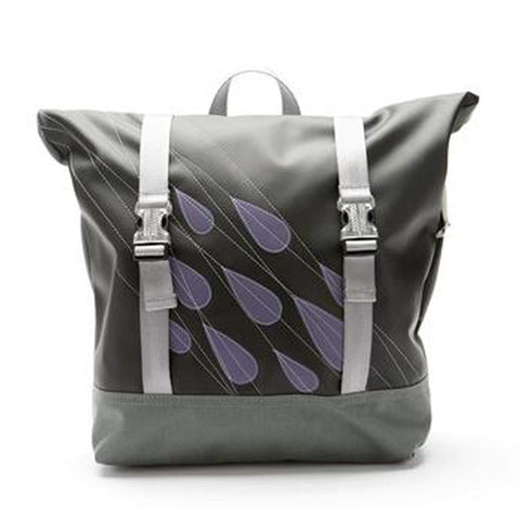 Tillie Bike Pannier in Purple Rain - Fire Opal