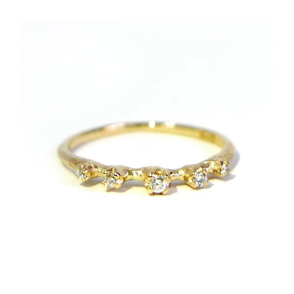 Gold with Diamonds by N+A - Fire Opal