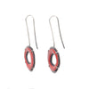 NEW! Small Single RC Red Enamel Earrings by Lisa Crowder