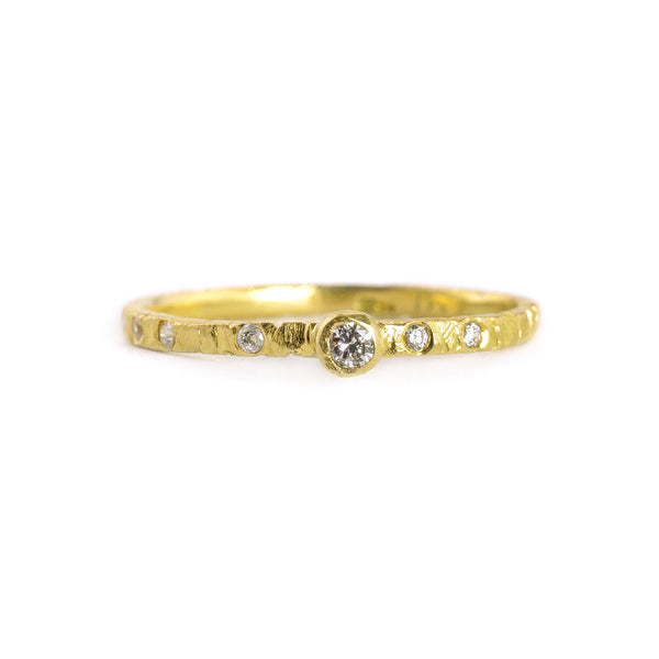NEW! Goldyn Stacker Band Ring by Kate Maller