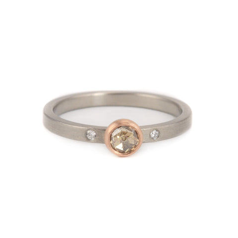 NEW! Champagne Rose Cut Ring by EC Design