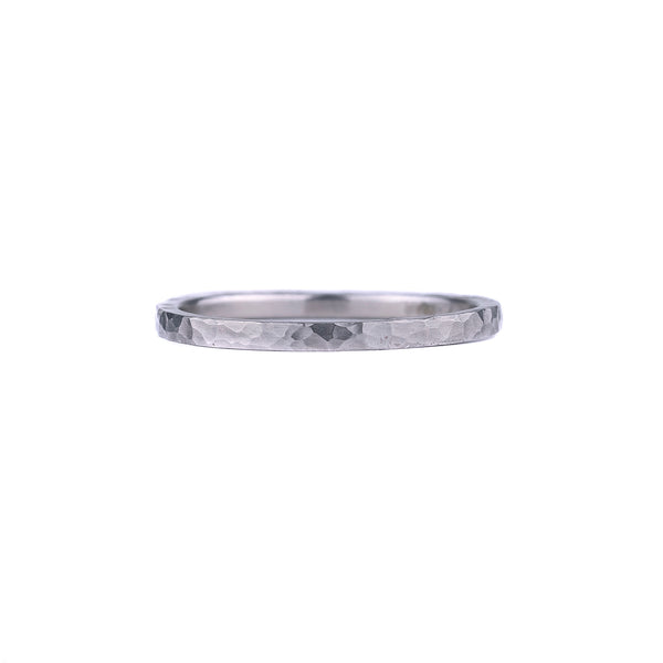 SALE! Thin Hammered Oxidized Silver Band by EC Design