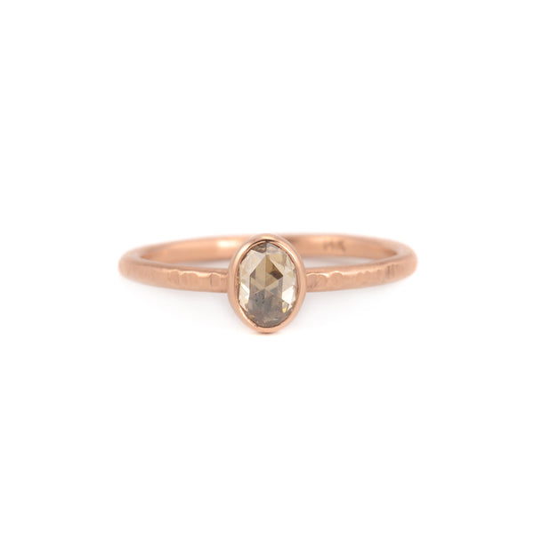 Opal Champagne Diamond Ring by EC Design