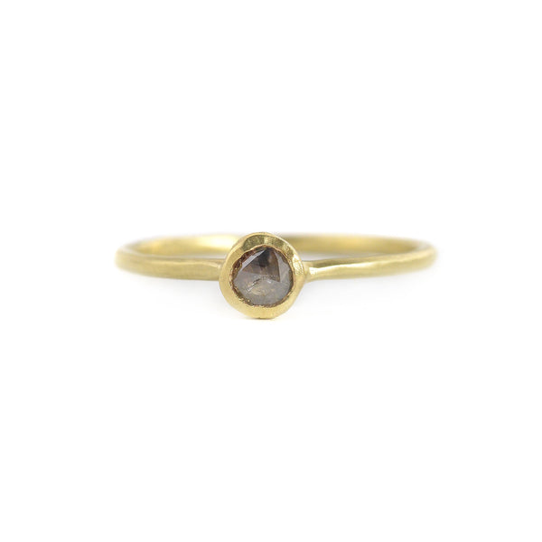 NEW! Rosecut Pebble Ring with Grey Diamond by Sarah Swell