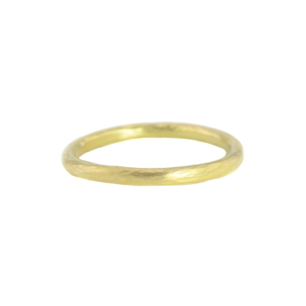 NEW! 18k Gold Hammered Round Band by Sarah Mcguire