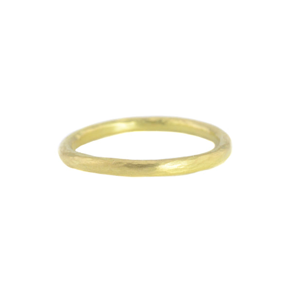 18k Gold Hammered Round Band by Sarah Mcguire