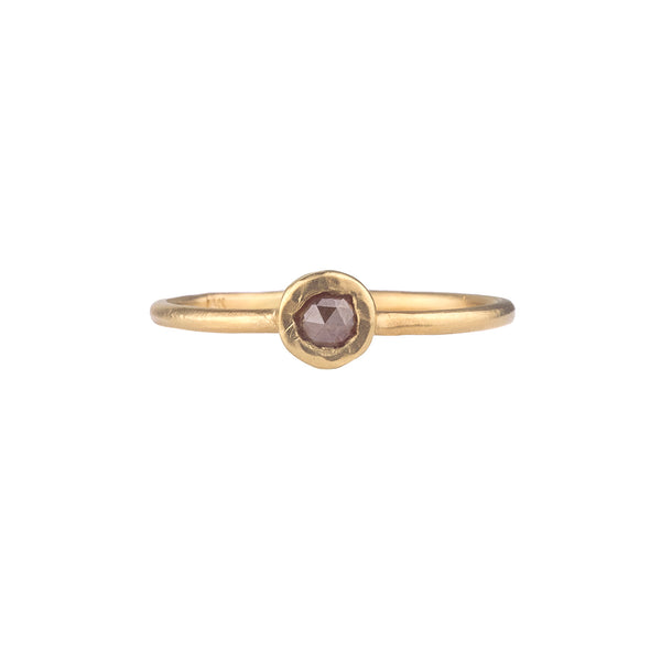 NEW! Rosecut Pebble Ring with Rust Diamond by Sarah Swell