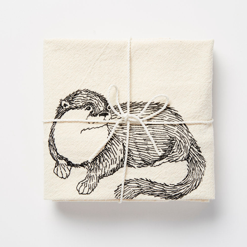 Flour Sack Towel (Multiple Illustrations) by SKT Ceramics