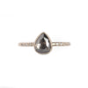 .82ct Salt and Pepper Rose Cut Diamond Chloe Setting Ring by Sarah Mcguire