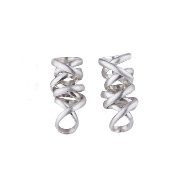 NEW! Small Nest Earrings in Sterling Silver by Rina Young