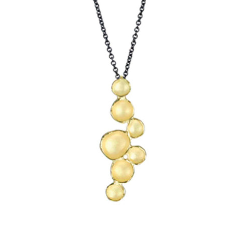 Medium Milkyway Pod Necklace- 18k Gold Vermeil by Sarah Richardson - Fire Opal