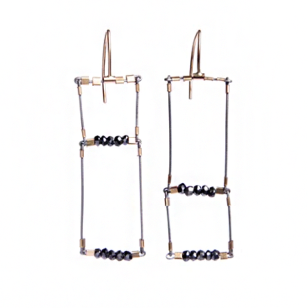 NEW! Offside Rectangle Earrings by Meghan Patrice Riley