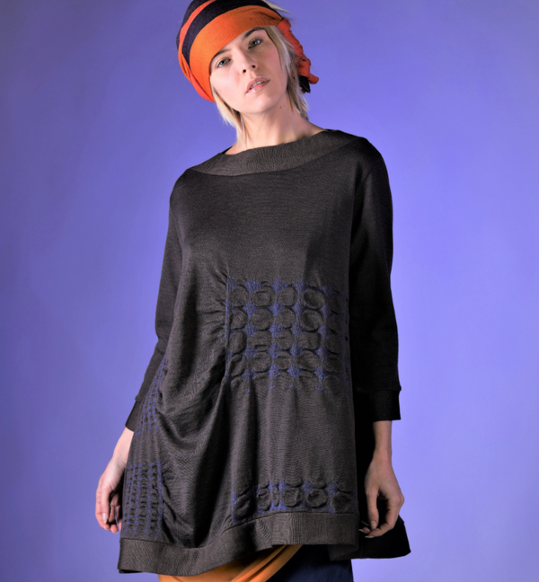 NEW! Brown Bluette Tunic Sweater by Knit Knit