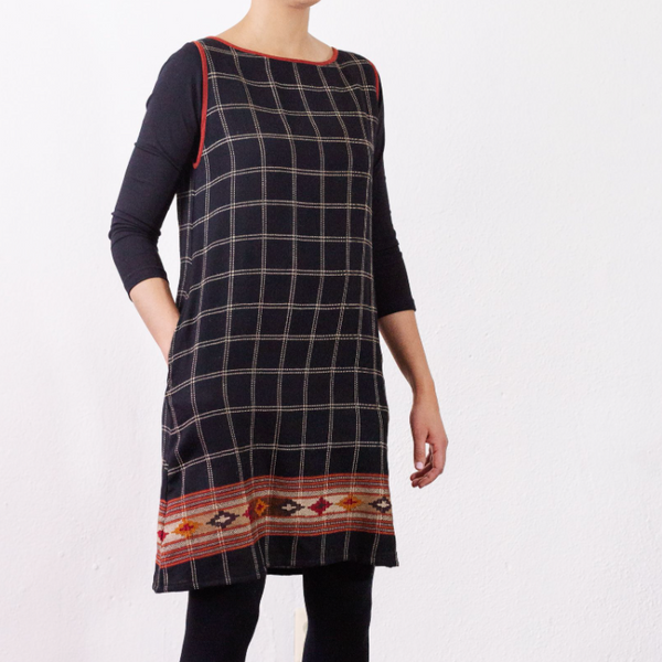 NEW! Sheila Check Border Dress by Orvana