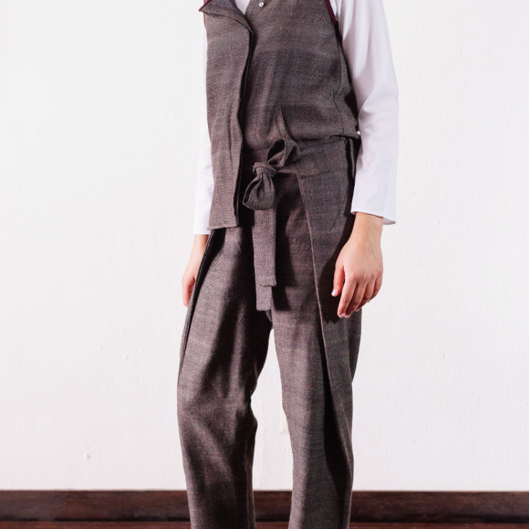NEW! Sasha Wrap Wool Trouser by Orvana