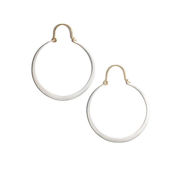 NEW! Medium Lunar Hoop Earrings by Carla Caruso