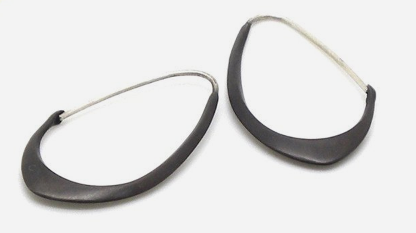 Medium Facet Hoops by Hannah Blount