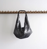 Medium Slouch Bag in Distressed Black by Stitch & Tickle