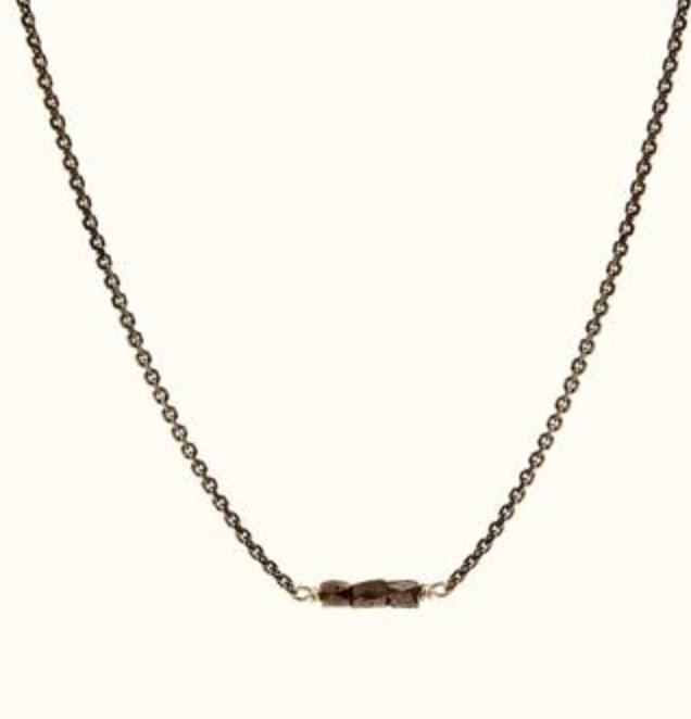 Slinky Black Diamond Bar Necklace Carla Caruso